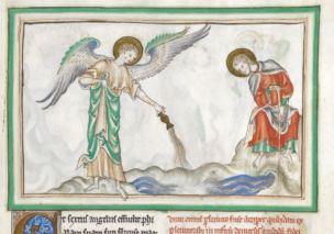 1250-1300 BL Add MS 35166 fol 18r Le dessechement de l'Euphrate