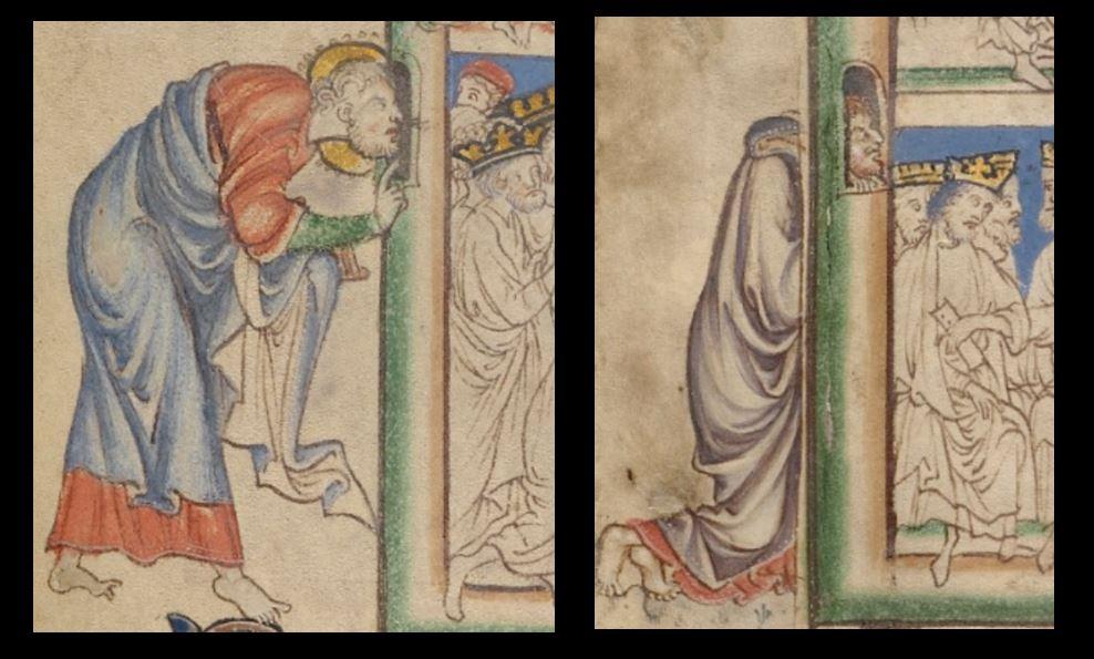 1255-60 Anglais getty museum Ms. Ludwig III 1 (83.MC.72) fol 4v 5r detail