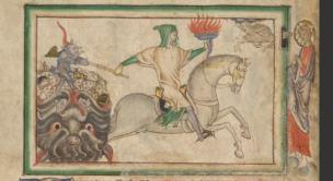 1255-60 Anglais getty museum Ms. Ludwig III 1 (83.MC.72) fol 7v The Fourth Horseman
