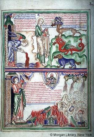 1255-60 Apocalypse Morgan, Londres, MS M.524 fol. 16r