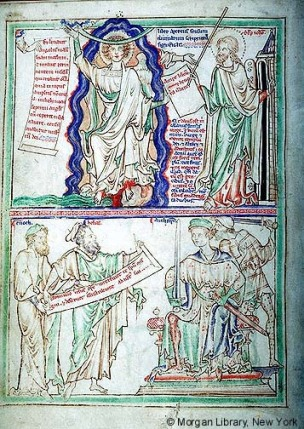 1255-60 Apocalypse Morgan, Londres, MS M.524 fol. 6v