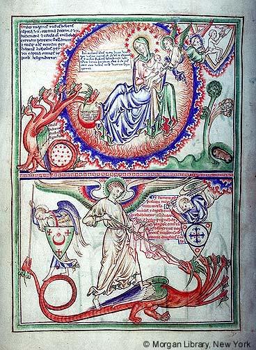 1255-60 Apocalypse Morgan, Londres, MS M.524 fol. 8v