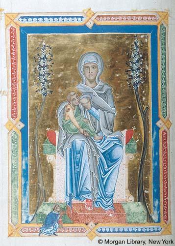 1260-1264 Gradual, Sequentiary, Sacramentary Austria, perhaps Salzburg, Morgan Library MS M.855 fol. 110v