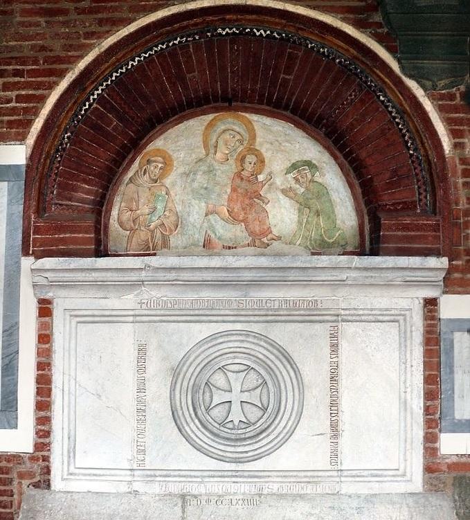 1274 Orlandi Deodato, san Francesco d'Assisi e donatore Chiesa di S. Francesco, Lucca tomba di Bonagiunta Tignosini