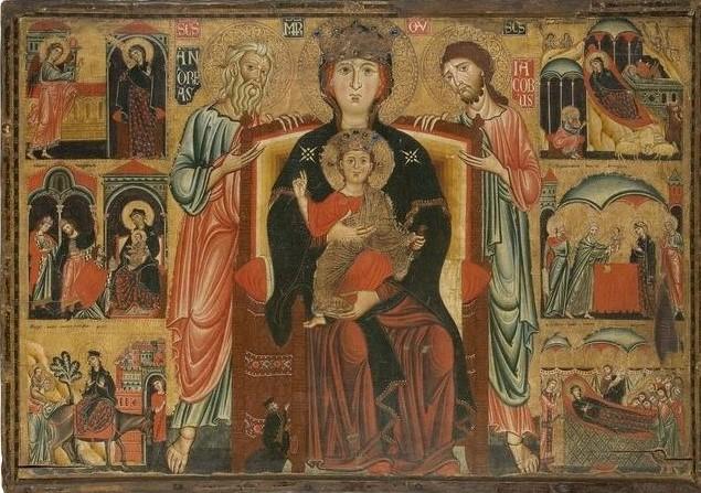 1275-80 Maestro della Maddalena, tra sant'Andrea, san Giacomo e donatore, Arts decoratifs, Parigi