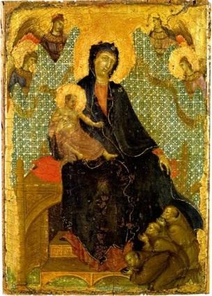1280-85 Duccio_franciscan-madonna inversee