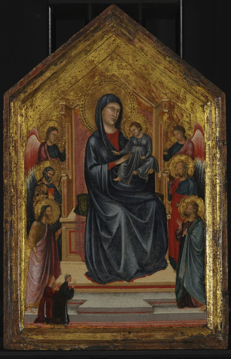 1290-1320 Saint Cecilia Master Madonna and Child Enthroned with Four Saints, Two Angels and Two Donors Musee des BA Budapest
