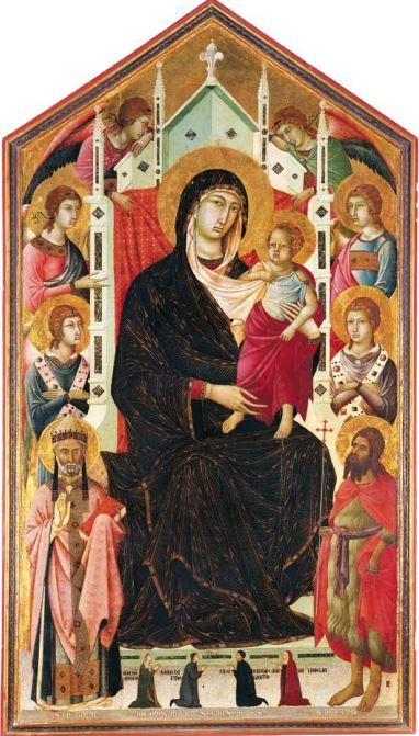 1298-1326 Segna di Bonaventura, Madonna in Maestà Collegiata di S. Giuliano, Castiglion Fiorentino