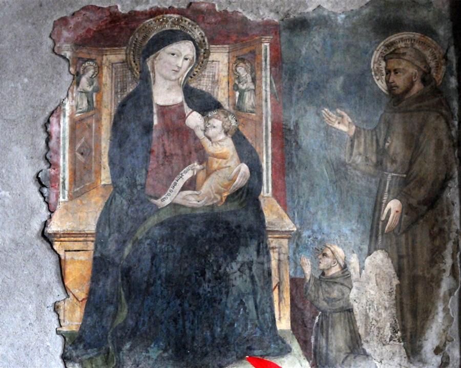 1300 - 1399 Anonimo orvietano , san Francesco d'Assisi e un donatore Chiesa di S. Francesco, Stroncone