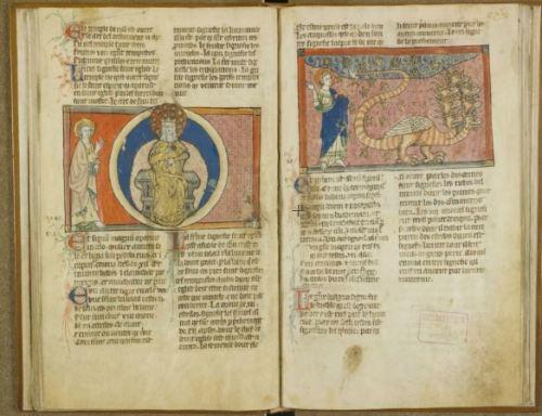 1300-20 Apocalypse de Toulouse BM Toulouse ms 815 fol 24v 25r