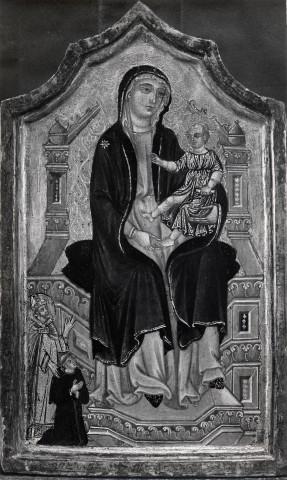 1300-24 Orlandi Deodato Madonna con Bambino in trono e santo vescovo che presenta il donatore, loc inconnue