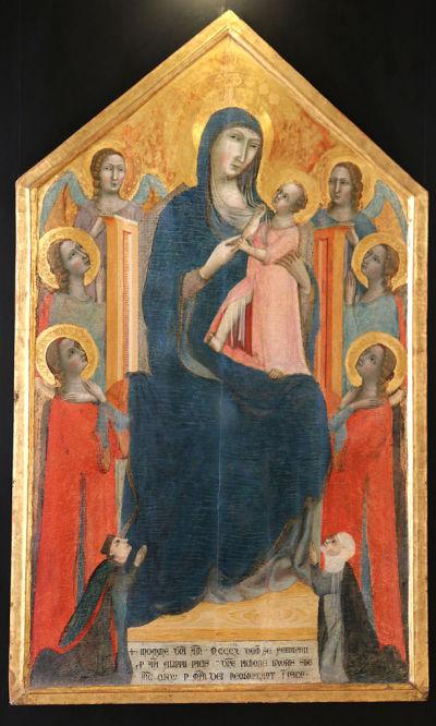 1310 Maitre_de_1310-Vierge avec six anges et epoux Paci-Musee du Petit Palais Avignon
