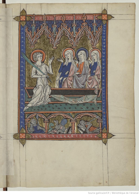 1311, La somme le Roi, ecrite par Lambert le petit Résurrection Gallica Bibliotheque de l'Arsenal, Ms 6329, f4r