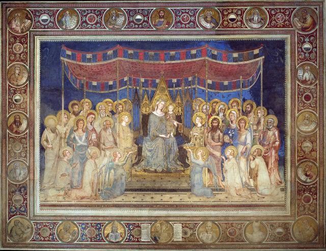 1315 simone_martini_ maesta Palazzo Pubblico de Sienne
