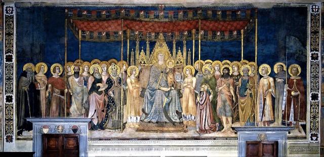 1317 lippo_memmi_Maesta donatore Nello Tolomei palazzo_comunale_in_san_gimignano