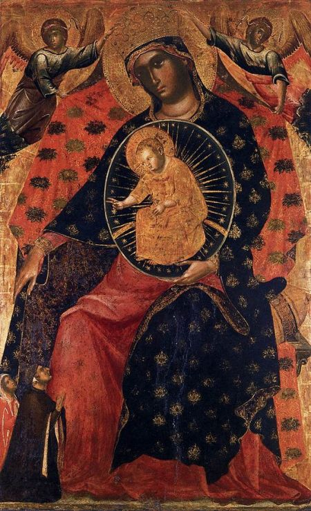 1325-30 Paolo_Veneziano_-_Madonna_and_Child_with_two_donrs accademia