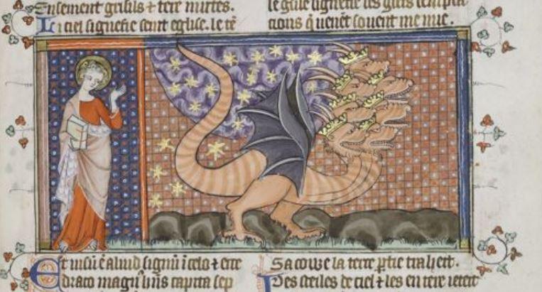 1330-39 Apocalypse Corpus Christi MS 020 fol 27r