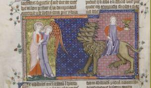 1330-39 Apocalypse Corpus Christi MS 020 fol 43v