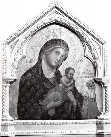 1330-70 Paolo Veneziano, Madonna con Bambino e donatore Museo Diocesano, Imola