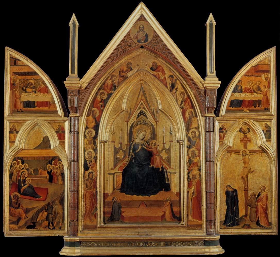 1333 Bernardo_daddi,_altarolo_portatile maesta_angeli_e_donatori Loggia del Bigallo Florence