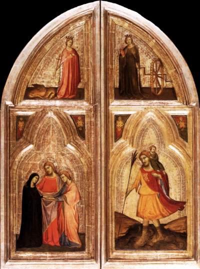 1334 Taddeo_daddi,_altarolo_portatile maesta_angeli_e_donatori Berlin Gemaldegalerie revers