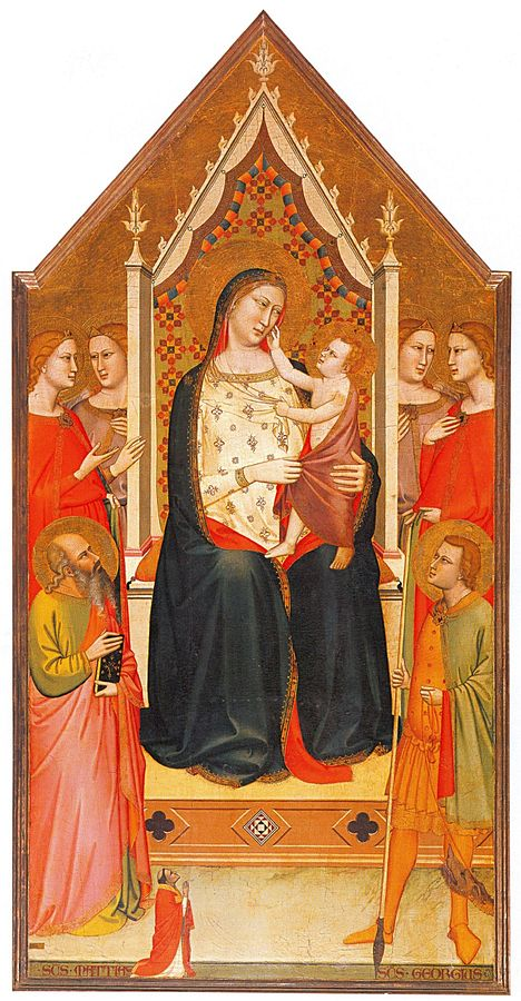 1336 Andrea_orcagna ou Maso di Bianco _ss_Mattia,_Giorgio_e_un_donatore San Giorgio a Ruballa