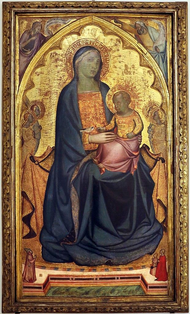 1338-76,Francesco di Neri da Volterra Madonna and Child With Three Donors Galleria e Museo Estense, Modena