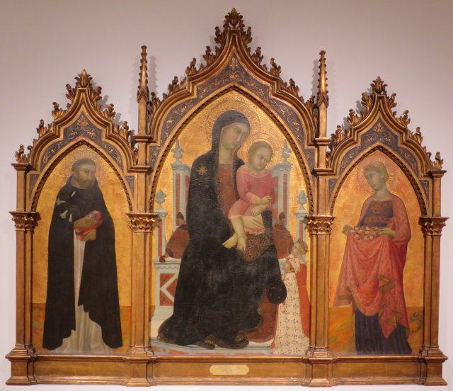 1344-76 Lippo Vanni, Donors and Saints Dominic and Elizabeth of Hungary,Collection of the Lowe Art Museum, University of Miami