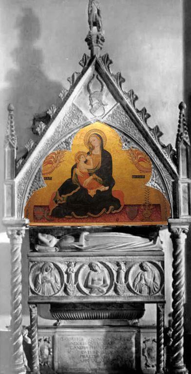 1345 Monument Giovanna d'Aquino San Domenico Maggiore Naples reconstitution