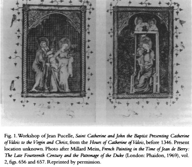 1346 avant Heures de Catherines de Valois extrait de Andrea G. Pearson premier dyptique