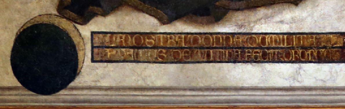 1349-50 Serafini Paolo da Modena Galleria Estense, Modena detail