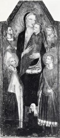 1350 - 1399 Anonimo fiorentino sec. XIV, Madonna con Bambino, santi e donatrice Narodní galerie Praga