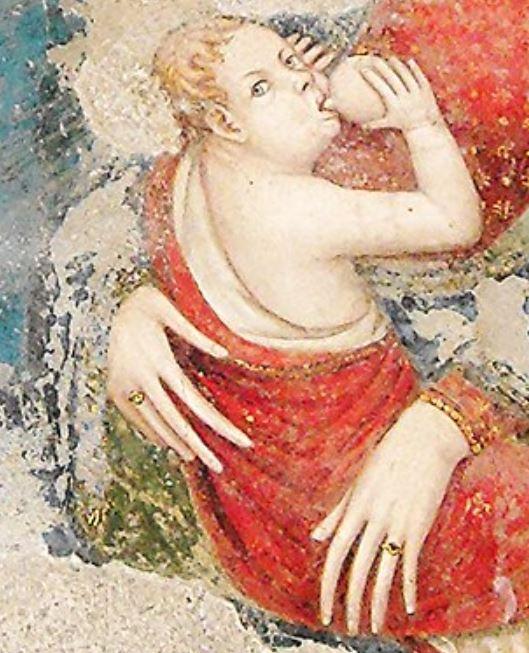 1350-55 San Pietro in Majella Napol detail