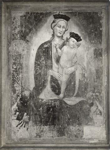 1350-99 Anonimo pisano sec. XIV, Madonna con Bambino e donatore Chiesa di S. Paolo a Ripa d'Arno, Pisa