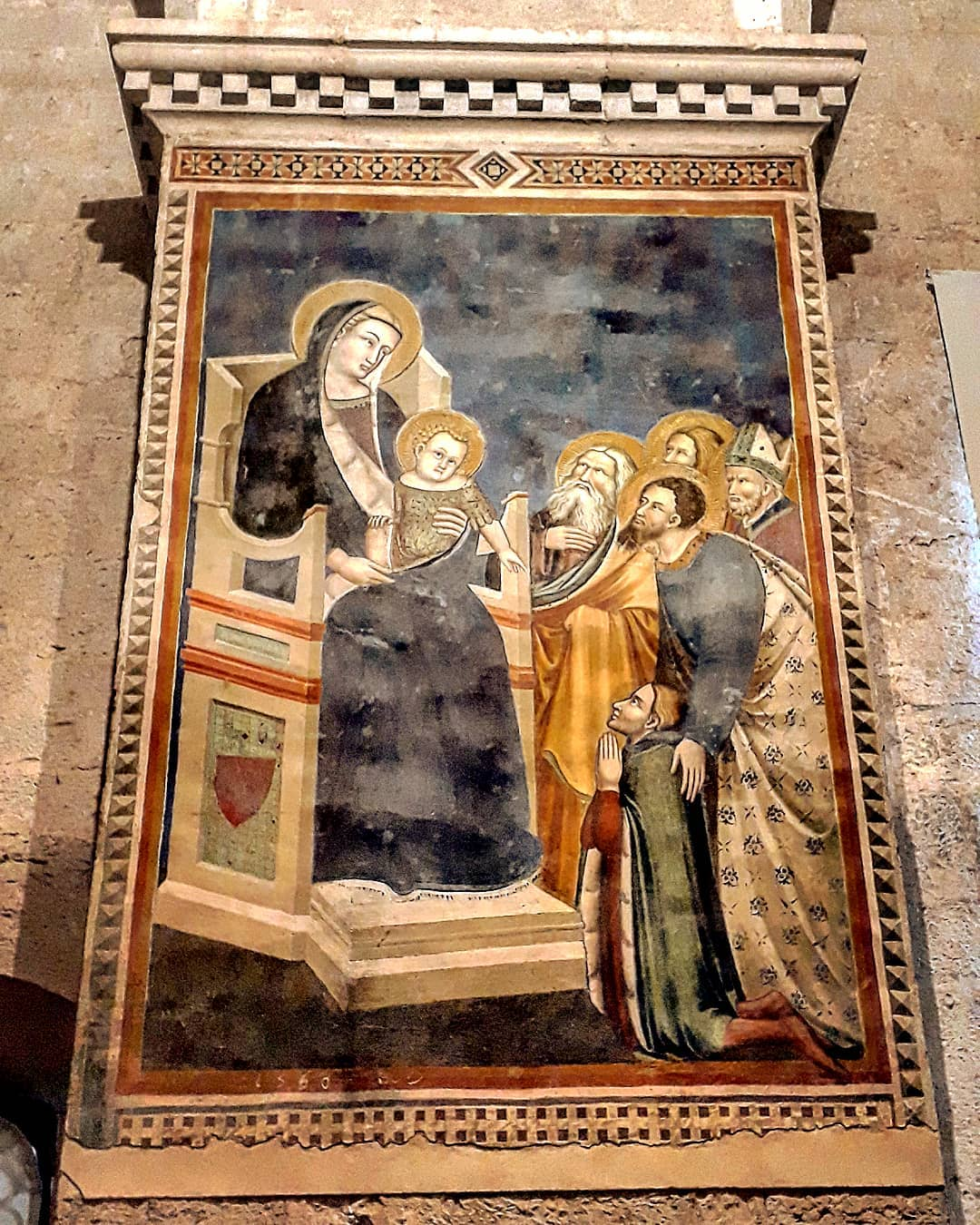 1350 ca mello_da_gubbio, madonne avec Giovanni Gabrielli,Palazza dei_consoli Gubbio