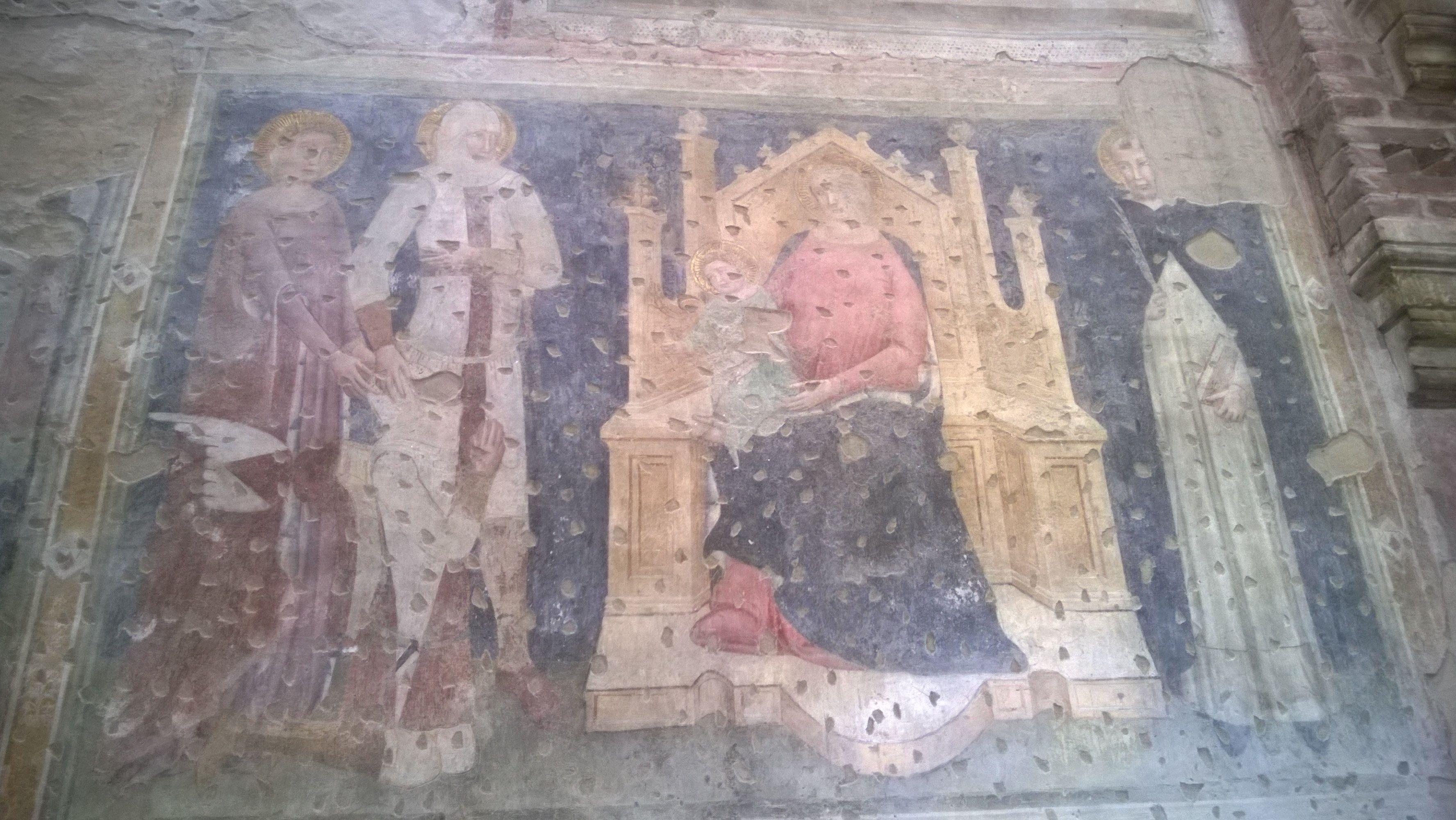 1354 Fresques des chevaliers allemand san Pietro martire, San Giorgetto, Verona