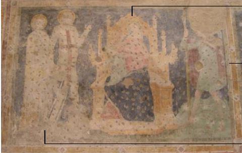 1354 Fresques des chevaliers allemands Donateur l San Giorgetto, Verona