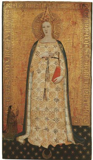 1355-60 Nardo_di_cione,_madonna_del_parto_e_donatore Museo Bandini Fiesole