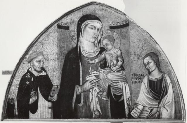 1357-1368 Francesco d'Oberto san Domenico, san Giovanni Evangelista Museo dell'Accademia Ligustica di Belle Arti, Genova