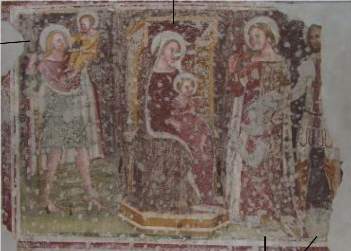 1358 Fresques des chevaliers allemand,San Giorgetto, Verona