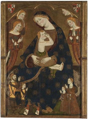 1359-62 Jaime Serra Virgen de Tobed con Enrique II de Castilla y la reina Juana Manuel, Prado Madrid