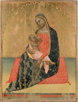 1366 Allegretto Nuzi, madonna dell'umilta Pinacoteca Civica San Severino Marche.