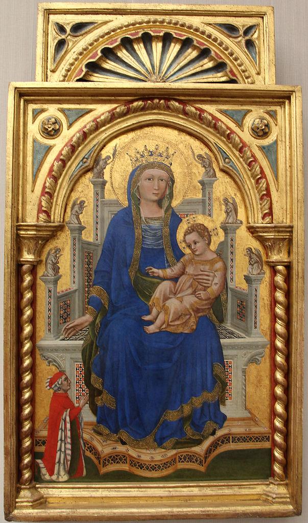 1368-polyptyque-guariento donatore Francesco il Vecchio de Carrare Gemaldegalerie Berlin