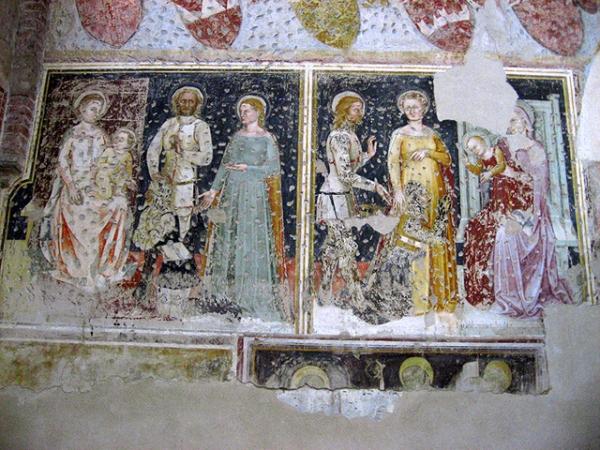 1370-79 Fresques des chevaliers allemand,Bartolomeo Badile San Giorgetto, Verona