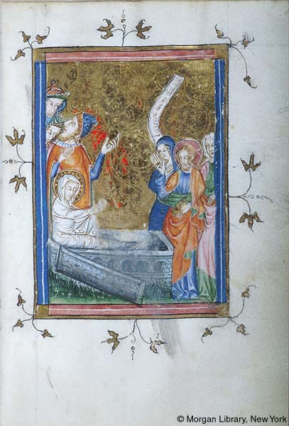 1370-80 Psalter-Hours, France, Morgan MS M.88 fol. 14r