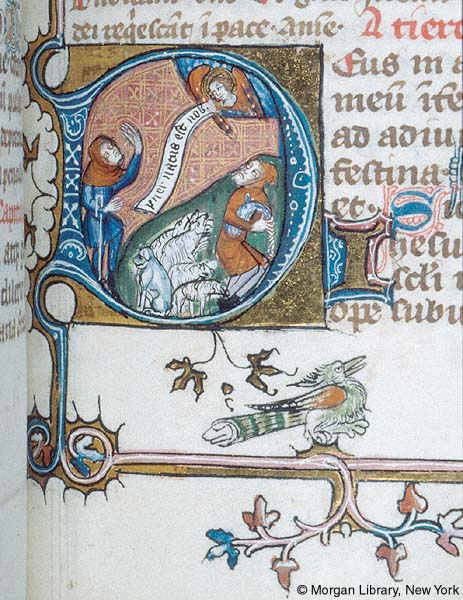 1370-80 Psalter-Hours, France, Morgan MS M.88 fol. 165r