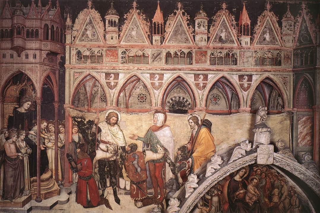 1370 Altichiero,_la_vergine_adorata_dai_mebri_della_famiglia_Cavalli,_sant'anastasia,_verona_