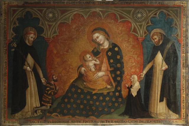 1370 Lorenzo Venaziano San Domenico e San Pietro martire Cangrande II della Scala ed Elisabetta di Baviera ouTaddea di Carrara Santa Anastasia Verone