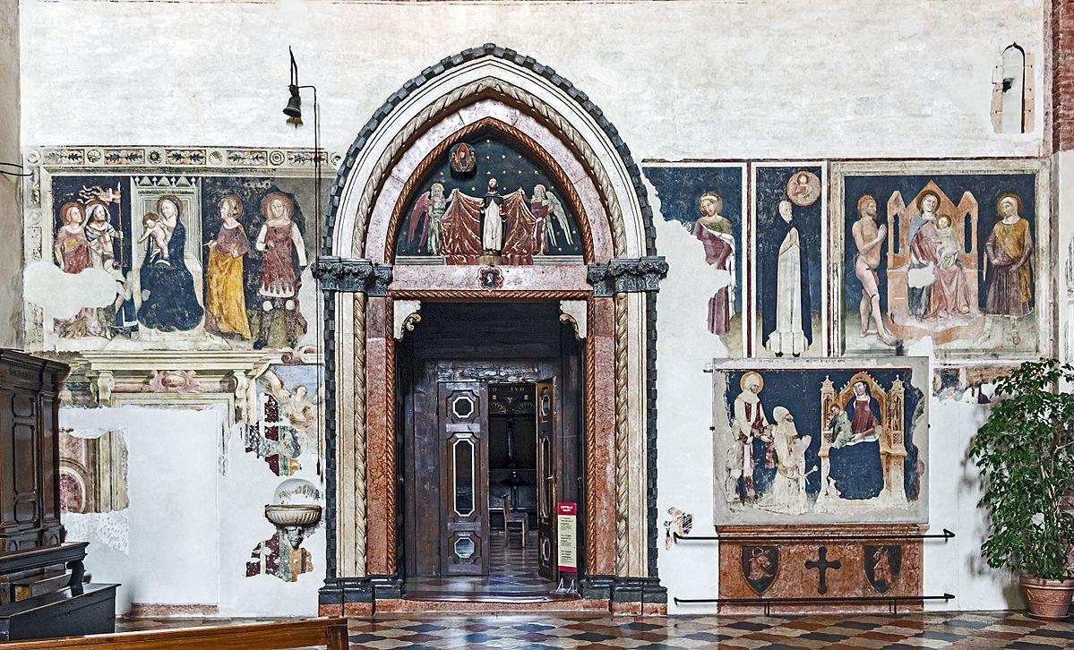 1370 ca Alticchiero Santa_Anastasia_(Verona)_-_Cappella_Pellegrini_-_Entrance