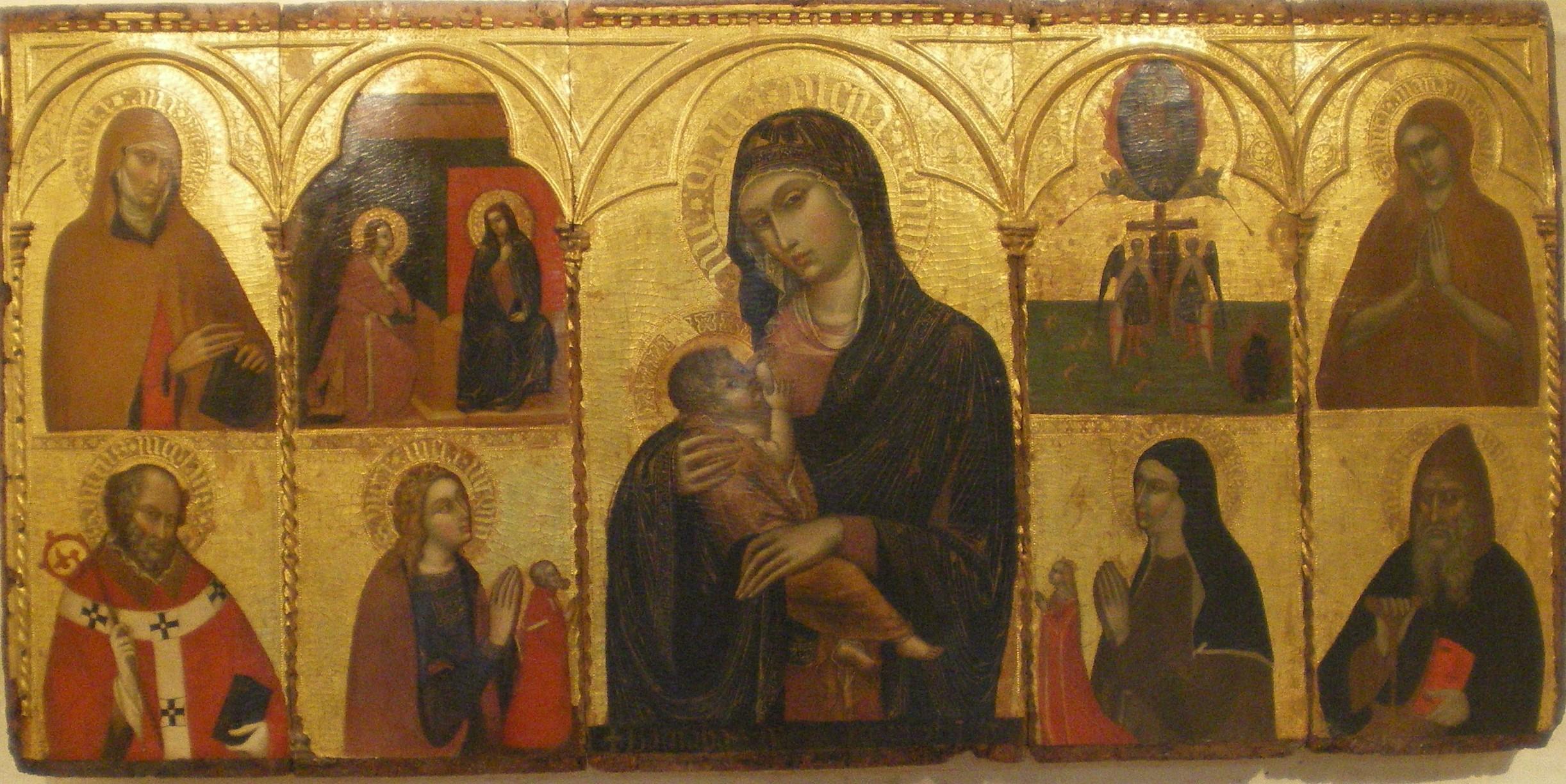 1370 ca Barnaba da Modena Vierge au lait Musee de la Cathedrale Murcie